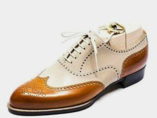 Men's bespoke two tone oxford shoe for men's
