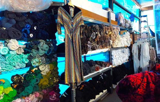 1000s of yards of fabrics Trims and 100s of pieces of vintage fabrics